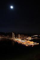 Ålesund 12012011.<br /> Måneskinn over småbåthavnen ved Sunnmørshallen / Color Line Stadion i Ålesund.<br /> <br /> The marina next to Sunnmørshallen / Color Line Stadium in Aalesund photographed in moonlight.<br /> Foto: Svein Ove Ekornesvåg