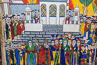 A 17th century fresco of monks from Aksum, Old Church of St. Mary's Zion, Axum, Ethiopia.