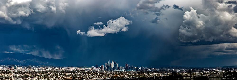 Skyline of downtown Los Angeles. Los Angeles skyline.