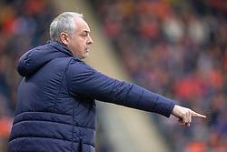 Falkirk's manager Ray McKinnon. Falkirk 1 v 1 Dundee United, Scottish Championship game played 23/2/2019 at The Falkirk Stadium.