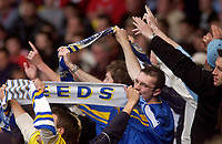Photo. Glyn Thomas.<br /> Digitalsport<br /> NORWAY ONLY<br /> <br /> Leeds United v Charlton Athletic. <br /> FA Barclaycard Premiership. 08/05/2004.<br /> Leeds fans continue with their wholehearted support of their team despite relegation.