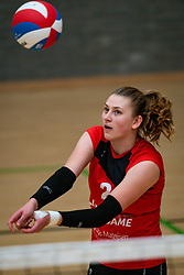 Elles Dambrink of VCN in action during the league match Laudame Financials VCN - FAST on January 23, 2021 in Capelle aan de IJssel.
