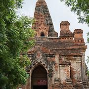 The front entrance of Gu-byauk-gyi Temple in Nyaung-U, Myanmar (Burma).