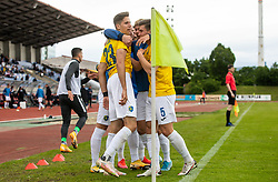 Players of Bravo celebrate after scoring second goal during football match between NK Domzale and NK Aluminij in 36th Round of Prva liga Telekom Slovenije 2020/21, on May 22, 2021 in Sportni park Domzale, Slovenia. Photo by Vid Ponikvar / Sportida