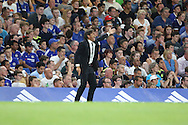 Chelsea manager Antonio Conte pointing during the EFL Cup match between Chelsea and Bristol Rovers at Stamford Bridge, London, England on 23 August 2016. Photo by Matthew Redman.