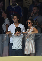 Kaka and Family during the 2018 FIFA World Cup final football match between France and Croatia in Moscow, Russia on july 15, 2018. Photo by Lionel Hahn /ABACAPRESS.COM