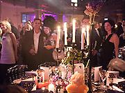 Soujata Devaris; Mollie Dent-Brocklehurst; , Amanda Eliasch birthday dinner. North Audley st. London. 12 May 2010. -DO NOT ARCHIVE-© Copyright Photograph by Dafydd Jones. 248 Clapham Rd. London SW9 0PZ. Tel 0207 820 0771. www.dafjones.com.
