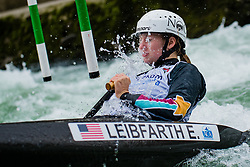 Evy LEIBFARTH (USA) during Canoe Semi Finals at World Cup Tacen, 18 October 2020, Tacen, Ljubljana Slovenia. Photo by Grega Valancic / Sportida