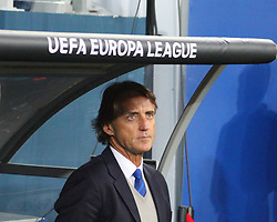 October 19, 2017 - Saint Petersburg, Russia - Of The Russian Federation. Saint-Petersburg. The UEFA Europa League. Football. Football match ''Zenit'' - Rosenborg 3:1. Head coach of FC Zenit, Roberto Mancini. (Credit Image: © Russian Look via ZUMA Wire)
