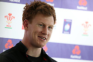 Rhys Patchell, the Wales rugby player picked to play at no10 against Scotland speaks to the press. . Wales rugby team announcement press conference at the Vale Resort Hotel in Hensol, near Cardiff , South Wales on Tuesday 30th January 2018.  the team are preparing for their opening Natwest 6 Nations 2018 championship match against Scotland this weekend.   pic by Andrew Orchard