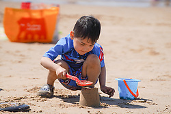 © Licensed to London News Pictures. 30/05/2021. Formby,UK. Ellia,5, enjoys the hot weather on Formby Beach. Photo credit: Ioannis Alexopoulos/LNP <br /> <br /> **Permission Granted