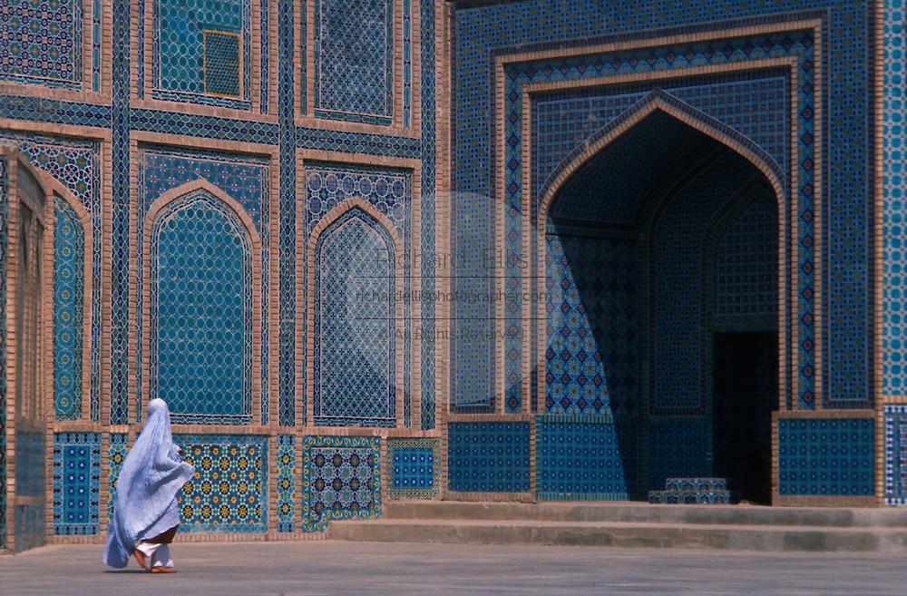 Worshipper Visiting Shrine of Hazrat Ali, the Blue Mosque, in Mazar-E Sharif, Afghanistan