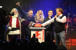 © Licensed to London News Pictures. 15/11/2013<br /> Bluewater,Kent. Christmas Light switch tonight (15.11.2013)<br /> with  Toby Antis, Justin Fletcher (Mr Tumble), Jahmene Douglas and X- factors Tamera Foster from this years show.<br /> Photo credit :LNP