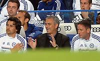 Football - Chelsea v Fulham Premier league<br />  @ Stamford Bridge <br /> Jose Mourinho - Chelsea manager feeling a little happier after their 1st goal