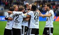 Football UEFA Champions League Q3<br /> Rosenborg - Maribor<br /> Lerkendal Stadium, Trondheim, Norway<br /> 13 August 2019<br /> <br /> Alexander Søderlund (midten) har scoret og utlignet til 1-1 for Rosenborg<br /> <br /> <br /> Foto : Arve Johnsen, Digitalsport