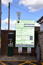 Parking sign in both English and Welsh, Wales May 2021