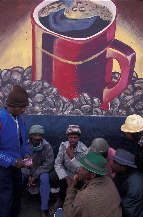 Hand painted mural advertising Nescafé, Anatananarivo