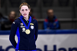 February 9, 2019 - Torino, Italia - Foto LaPresse/Nicolò Campo .9/02/2019 Torino (Italia) .Sport.ISU World Cup Short Track Torino - Ladies 500 meters Final A .Nella foto: Martina Valcepina con la mediaglia doro..Photo LaPresse/Nicolò Campo .February 9, 2019 Turin (Italy) .Sport.ISU World Cup Short Track Turin - Ladies 500 meters Final A.In the picture: Martina Valcepina with gold medal (Credit Image: © Lapresse via ZUMA Press)