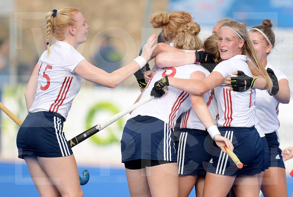 VALENCIA - EuroHockey Junior Championship Women<br />Russia v England (5th/6th Place)<br />Photo: England scored a goal.<br /> Lily Walker <br /> WORLDSPORTPICS COPYRIGHT FRANK UIJLENBROEK