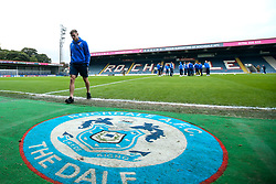 Gavin Reilly of Bristol Rovers arrives at The Crown Oil Arena for the Sky Bet League One fixture with Rochdale - Mandatory by-line: Robbie Stephenson/JMP - 02/10/2018 - FOOTBALL - Crown Oil Arena - Rochdale, England - Rochdale v Bristol Rovers - Sky Bet League One