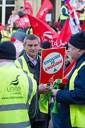 Unite pickets during the N30 day of action, Leeds, TUC day of action against public sector cuts, 30 Nov 2011