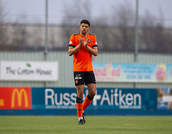 Dundee United's Osman Sow at the end. Falkirk 1 v 1 Dundee United, Scottish Championship game played 23/2/2019 at The Falkirk Stadium.
