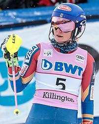 26.11.2017, Killington, USA, FIS Weltcup Ski Alpin, Killington, Slalom, Damen, 2. Lauf, im Bild Mikaela Shiffrin (USA, 1. Platz) // winner Mikaela Shiffrin of the USA reacts after her 2nd run of ladie's Slalom of FIS ski alpine world cup in Killington, United Staates on 2017/11/26. EXPA Pictures © 2017, PhotoCredit: EXPA/ Johann Groder