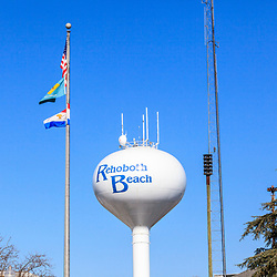 Rehoboth Beach, DE, USA - March 11, 2012: The Rehoboth Beach Water Tower