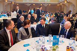 Janko Veber, Alenka Bratusek, Borut Pahor and Janez Kocijancic during presentation of Team Slovenia for Sochi 2014 Winter Olympic Games on January 22, 2014 in Grand Hotel Union, Ljubljana, Slovenia. Photo by Vid Ponikvar / Sportida