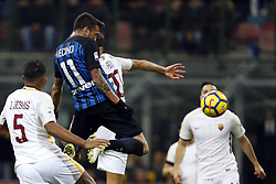 January 21, 2018 - Rome, Italy - Olympic Stadium, MILAN, Italy - 21/01/2018..Matias Vecino of Inter Milan scores his goal against Roma during their Italian Serie A soccer match...Credit: Giampiero Sposito/Pacific Press (Credit Image: © Giampiero Sposito/Pacific Press via ZUMA Wire)