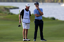 March 29, 2019 - Austin, Texas, United States - Justin Rose (R) and his caddie Gareth Lord wait on the 14th green during the third round of the 2019 WGC-Dell Technologies Match Play at Austin Country Club. (Credit Image: © Debby Wong/ZUMA Wire)