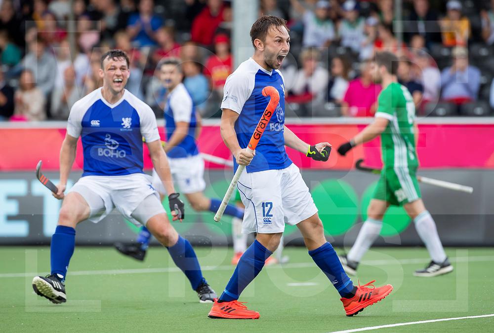 ANTWERP - BELFIUS EUROHOCKEY Championship. men  Ireland-Scotland (3-3). Craig Falconer (Sco) celebrating a goal . WSP/ KOEN SUYK