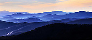 Sunset at Clingman's Dome in the Great Smoky Mountains National Park, Tennessee, North Carolina, USA