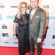 NLD/Amsterdam/20171106 - MTV Pre party 2017, Dennis Weening en partner Stella Maassen