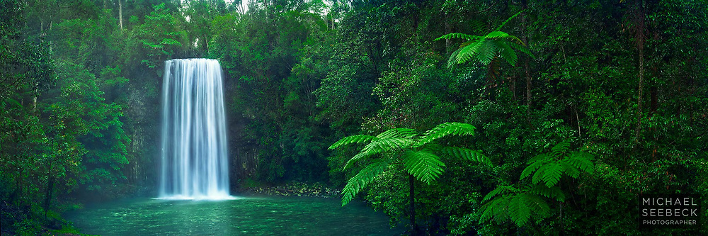 The enchanting waterfall at Millaa Millaa Falls captured early in the morning.