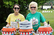 Middletown, New York - Two women from Rita's at the festival following the 15th annual Ruthie Dino Marshall 5K Run and Fun Walk hosted by the Middletown YMCA on Sunday, June 5, 2011.