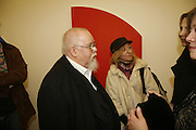 Sir Peter Blake and Nicky Wynne. Ellsworth Kelly exhibition opening. Serpentine Gallery and afterwards at the River Cafe. London. 17 March 2006. ONE TIME USE ONLY - DO NOT ARCHIVE  © Copyright Photograph by Dafydd Jones 66 Stockwell Park Rd. London SW9 0DA Tel 020 7733 0108 www.dafjones.com