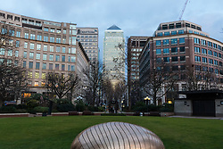 The skyscrapers of Canary Wharf, one of the world's most important financial districts as the FTSE and European markets follow US and Asian markets lower on Tuesday as investors continued to dump shares. London, February 06 2018.