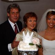 Huwelijk Renee Vervoorn en Francis Zwaneveld in kasteel Sypesteijn Loosdrecht, met haar ouders