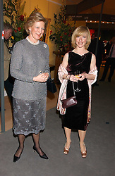 Left to right, QUEEN ANNE-MARIE OF GREECE and JANE HORROCKS at the British Antiques Dealers Association antiques & Fine art fair in aid of the charity Childline held at the Duke of York Square, Chelsea, London on 23rd March 2006.<br />