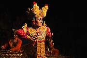 Traditional Balinese dance in bright costumes, Bali,Indonesia