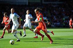 March 24, 2019 - Cardiff, South Glamorgan, United Kingdom - Denis Vavro, Gareth Bale during the UEFA European Championship Group E Qualifying match between Wales and Slovakia at the Cardiff City Stadium, Cardiff on Sunday 24th March 2019. (Credit Image: © Mi News/NurPhoto via ZUMA Press)