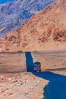 National Highway 1 (Srinagar-Leh Highway), Ladakh, Jammu and Kashmir State, India.