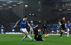 Everton's Seamus Coleman crosses the ball