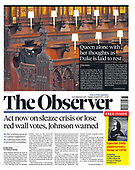 April 18, 2021 - UK: Front-page: Today's Newspapers In United Kingdom