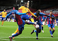 Football - 2020 / 2021 Premier League - Crystal Palace vs Everton<br /> <br /> Aboulaye Doucoure of Everton gets in between Mamadou Sakho and Tyrick Mitchell of Palace, at Selhurst Park<br /> <br /> COLORTSPORT/ANDREW COWIE