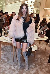 Missi Beqiri at a party to celebrate the launch of the new Furla Flagship store, 71 Brompton Road, London England. 2 February 2017.