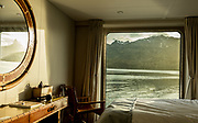 Patagonia, cruising with Ventus Australis. view from the cabin