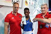 Boxen: AIBA Box-WM, Day 3, Hamburg, 20.08.2017<br /> 46 - 49 Kg: Shaffi Bakari Hassan (KEN, Red) - Salah Ibrahim Omar (GER, Blue)<br /> © Torsten Helmke