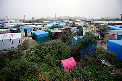 © Licensed to London News Pictures. 23/10/2016. Calais, France. Preparations begin for the demolition of the migrant camp in Calais, France, known as the 'Jungle'. French authorities have given an eviction order to thousands of refugees and migrants living at the makeshift living area of the French coast. Photo credit: Ben Cawthra/LNP